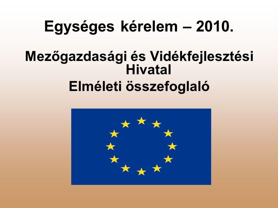 Egységes kérelem – 2010. Mezőgazdasági és Vidékfejlesztési Hivatal Elméleti összefoglaló