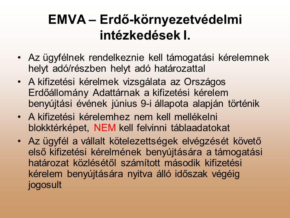EMVA – Erdő-környezetvédelmi intézkedések I.