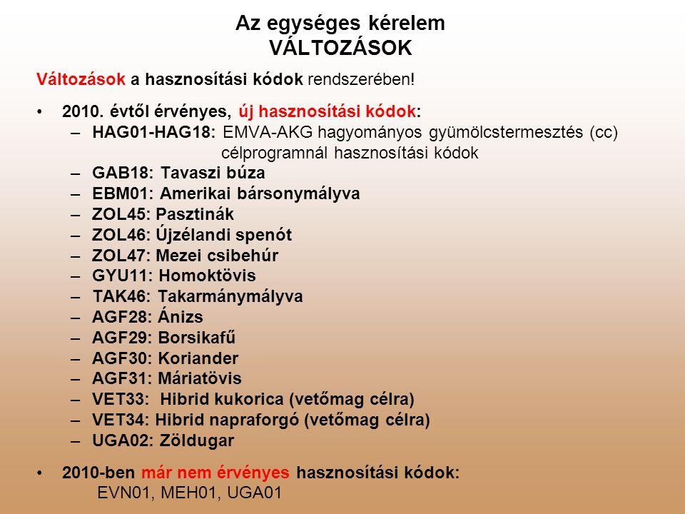 Egységes kérelem – 2010.EMVA – Erdő-környezetvédelmi intézkedések – ÚJ.