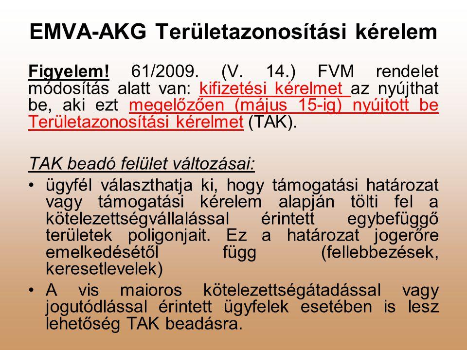 EMVA-AKG általános 1.gazdálkodási év 2009. szeptember 1-től 2010.