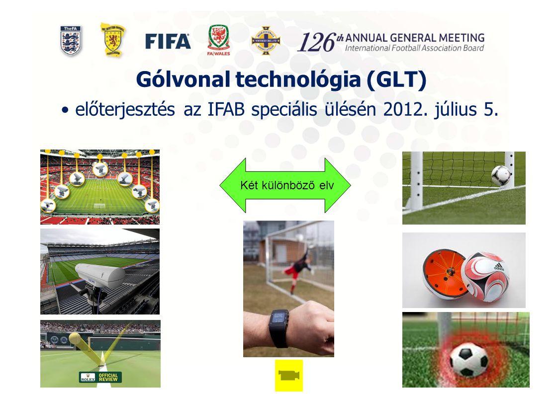 Gólvonal technológia (GLT) előterjesztés az IFAB speciális ülésén 2012. július 5. Két különböző elv