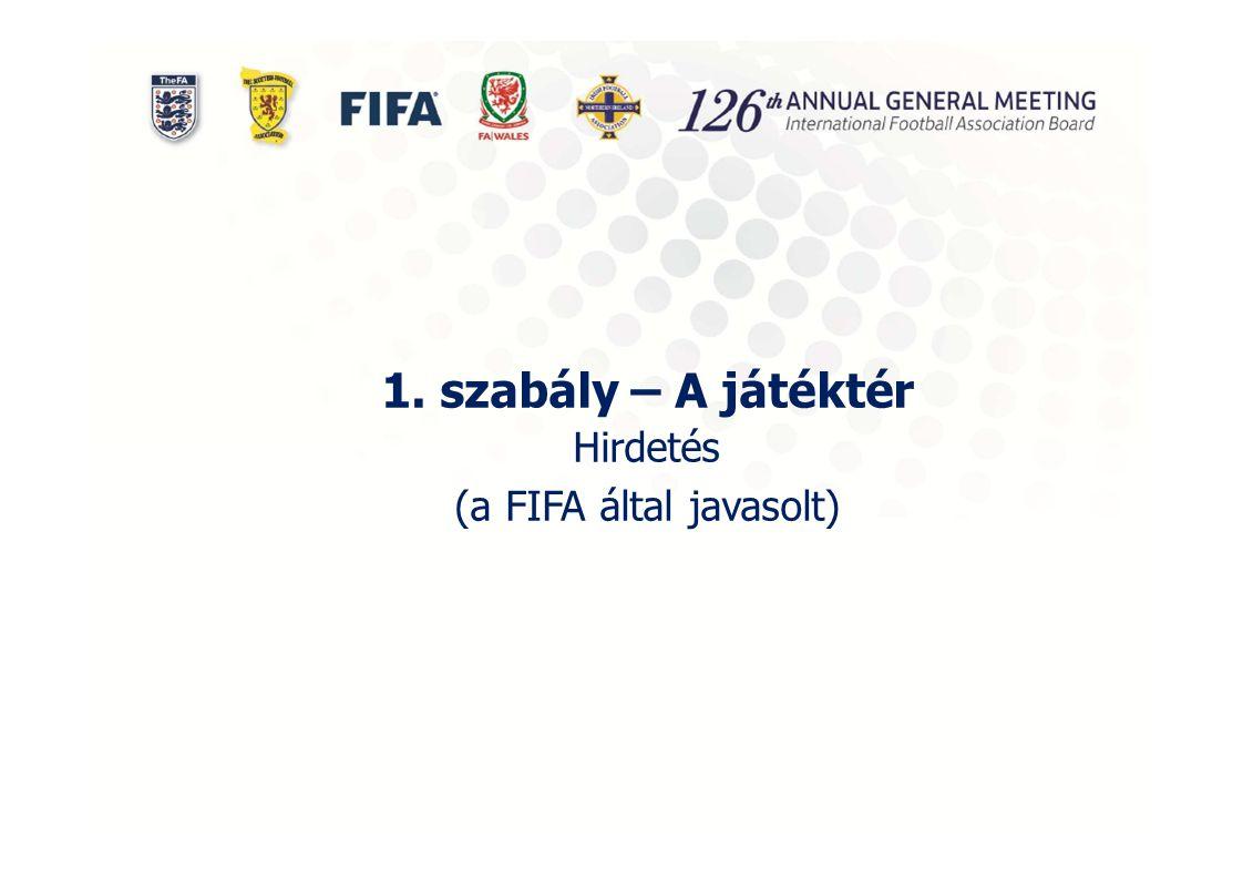 1. szabály – A játéktér Hirdetés (a FIFA által javasolt)