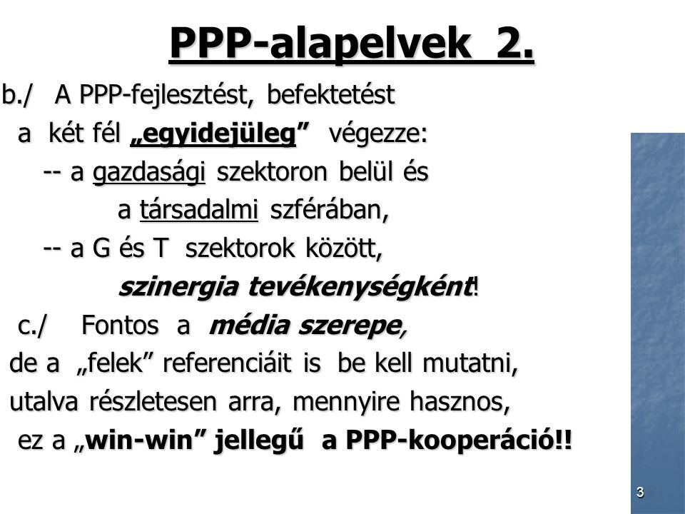 3 PPP-alapelvek 2.