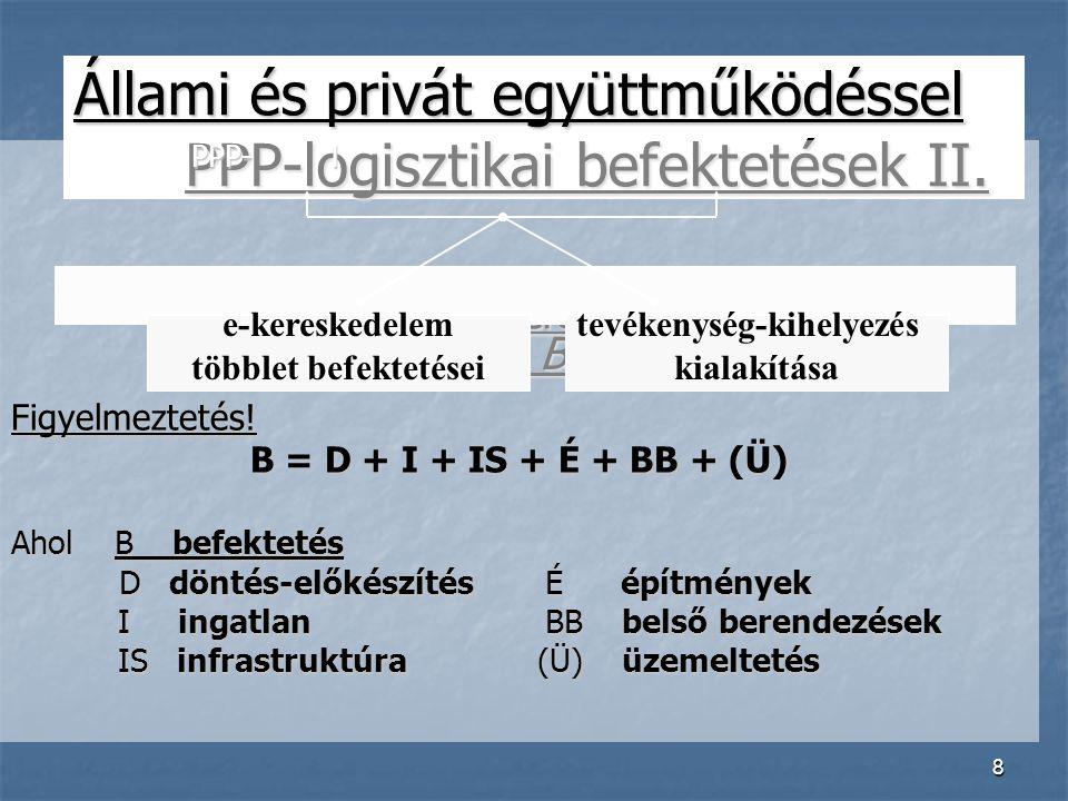 8 Állami és privát együttműködéssel PPP-logisztikai befektetések II.
