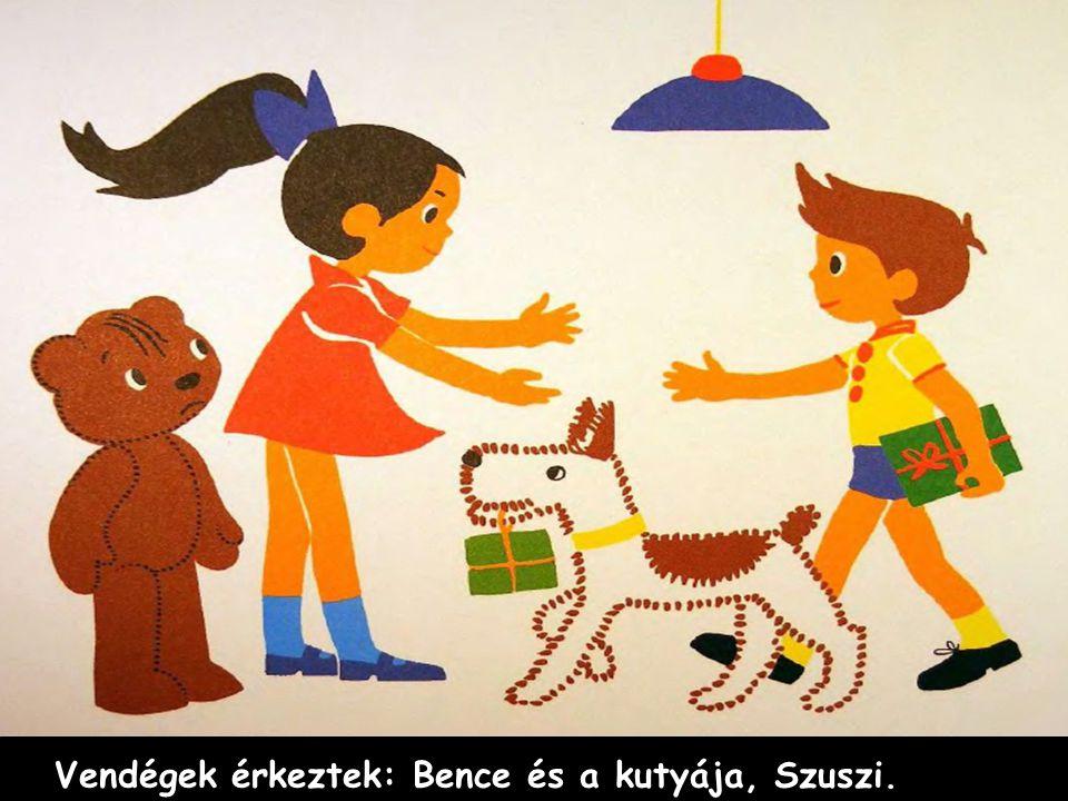 Vendégek érkeztek: Bence és a kutyája, Szuszi.