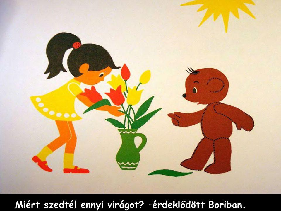 Miért szedtél ennyi virágot? –érdeklődött Boriban.