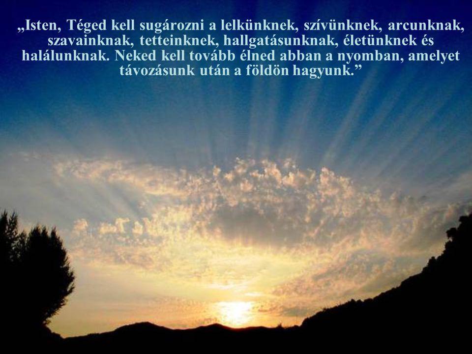 """""""Ó Szentlélek, semmi mást nem kérünk Tőled, csak Istent, Istenért."""