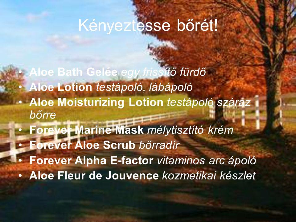 Kényeztesse bőrét! Aloe Bath Gelée egy frissítő fürdő Aloe Lotion testápoló, lábápoló Aloe Moisturizing Lotion testápoló száraz bőrre Forever Marine M