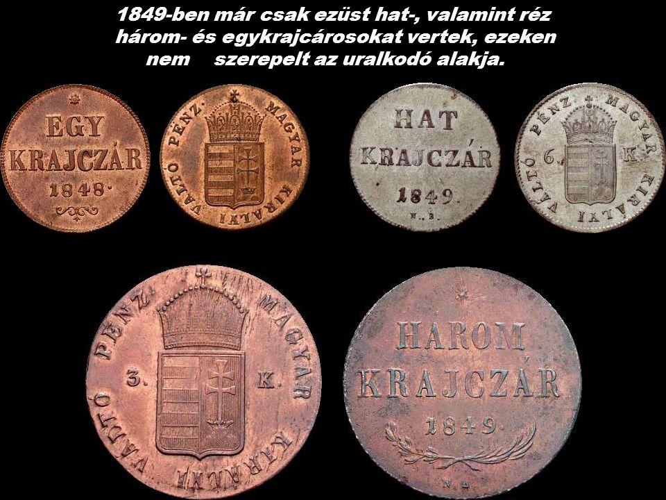 Ezüst 10 és 20 Krajczár V. Ferdinánd kir. és Sz. Mária képével 1848