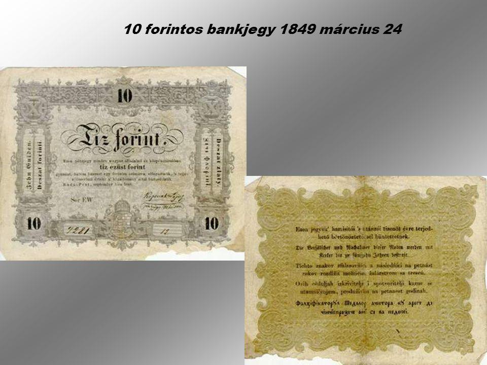 5 forintos bankjegy 1848 szeptember 6-án