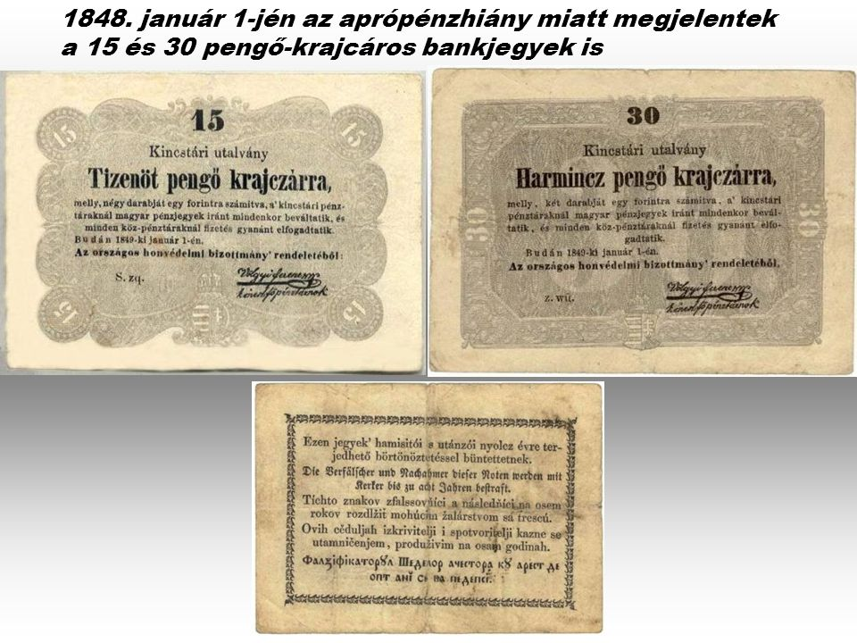 10 forintos bankjegy 1849 március 24