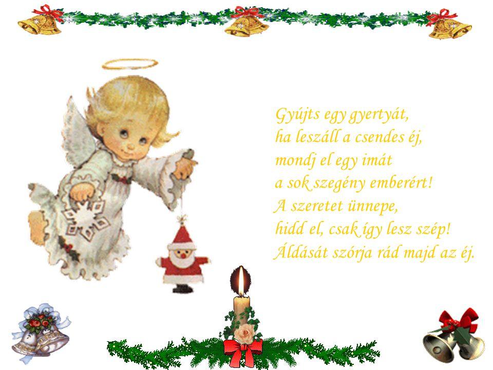 Betlehem csillaga vezet három királyt, köszöntve Mária újszülött kis Fiát. Karácsony este van csend honol a tájra, szeretet szívekben békesség hazája.