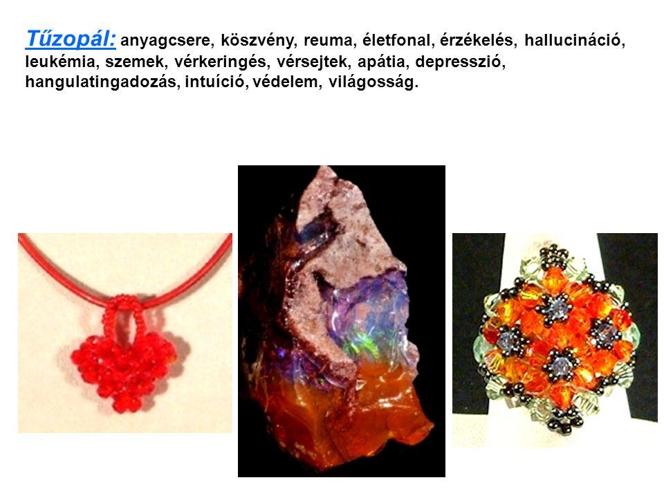 Gyémánt: Lehet színtelen, sárgás, világos narancs, barnás színű, egészen a feketéig.