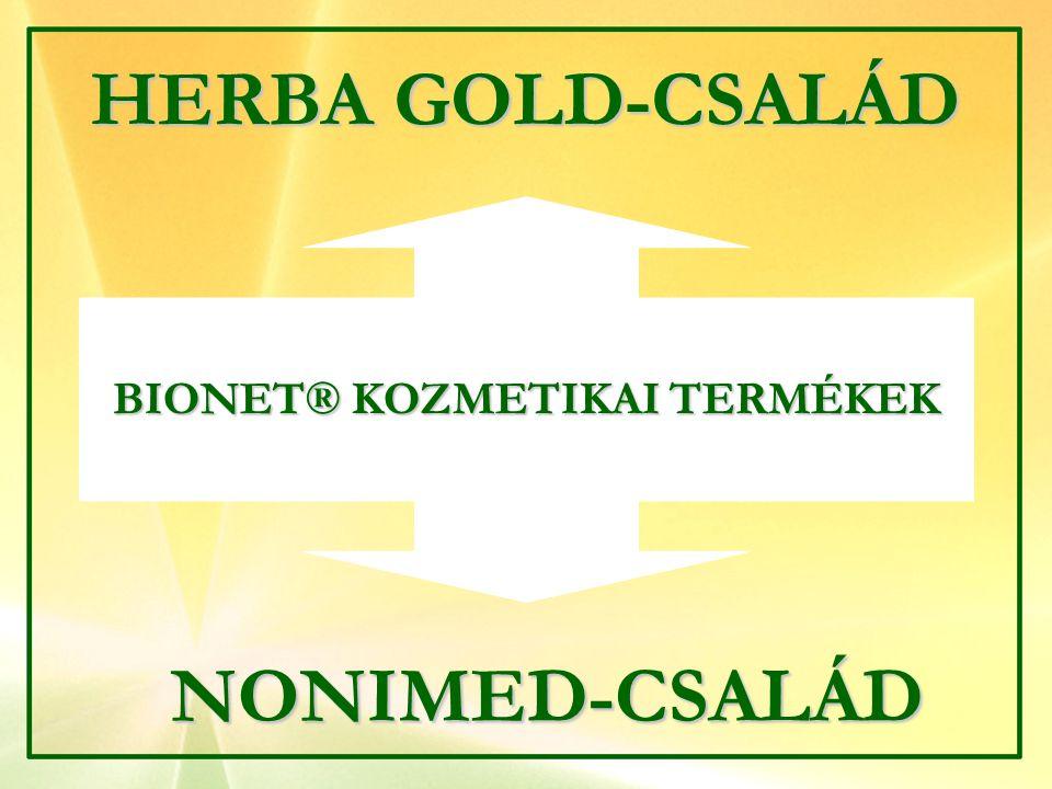 NONIMED-CSALÁD HERBA GOLD-CSALÁD BIONET® KOZMETIKAI TERMÉKEK