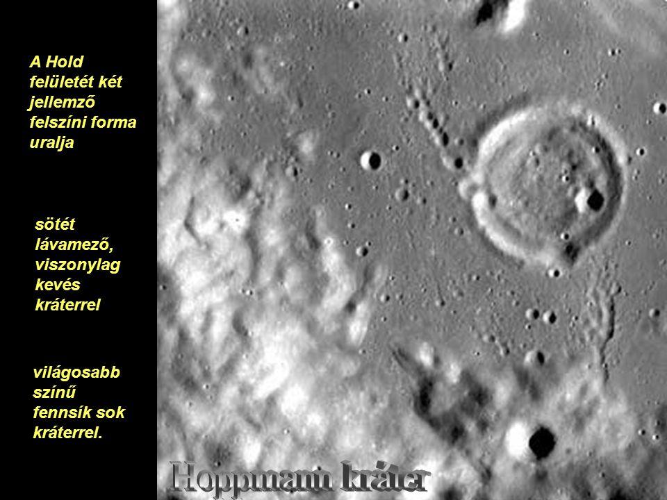 A Hold felületét két jellemző felszíni forma uralja sötét lávamező, viszonylag kevés kráterrel világosabb színű fennsík sok kráterrel.