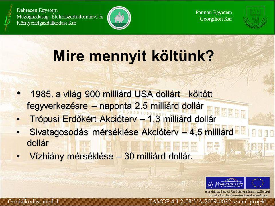 Mire mennyit költünk.1985.