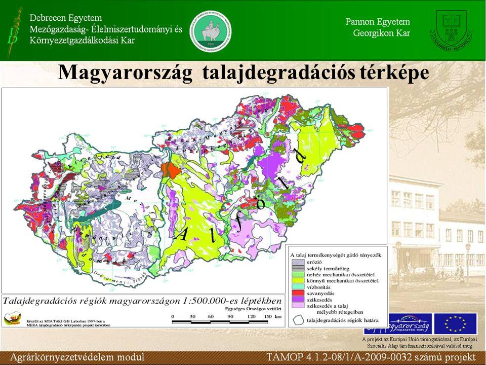 Magyarország talajdegradációs térképe
