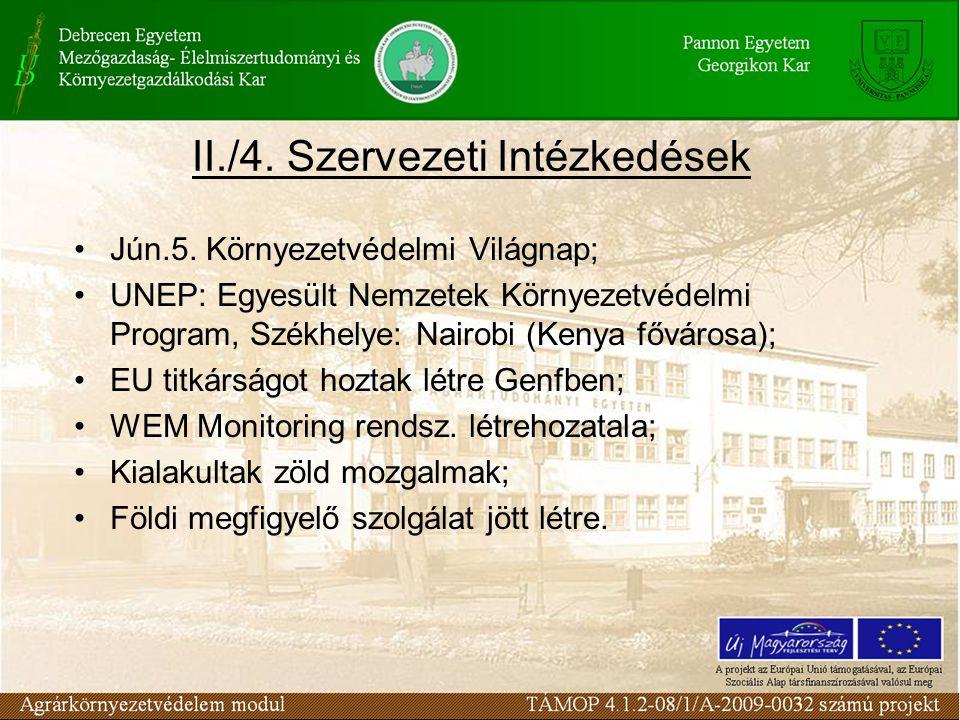 II./4. Szervezeti Intézkedések Jún.5.