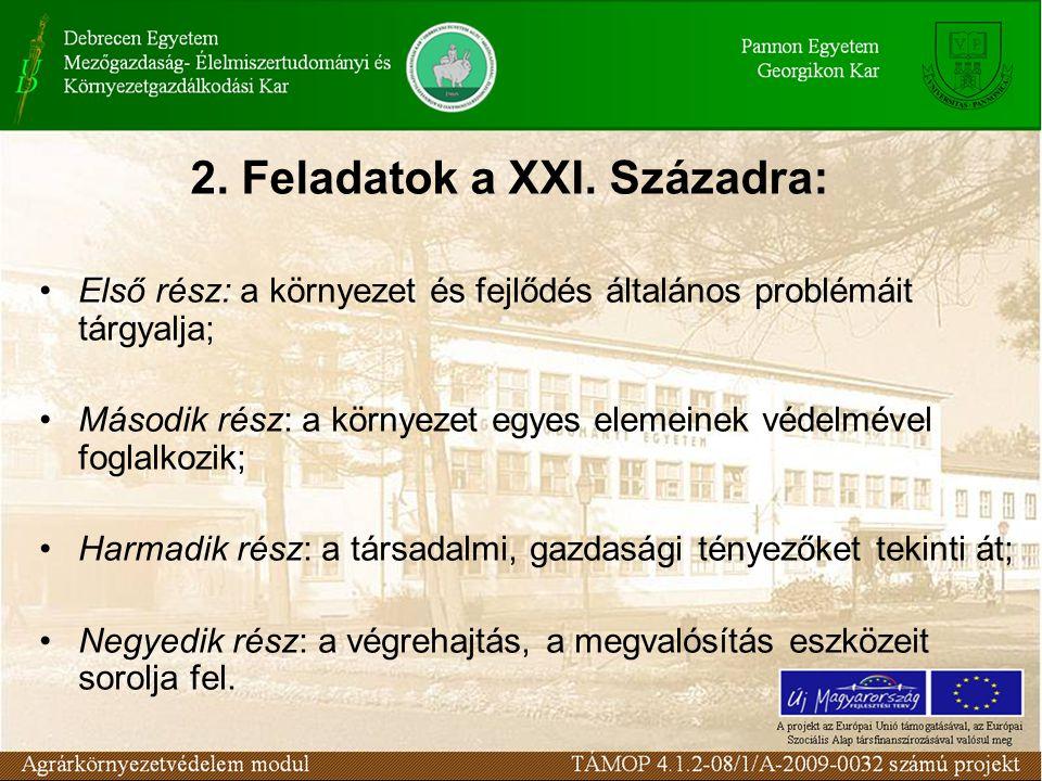 2. Feladatok a XXI.