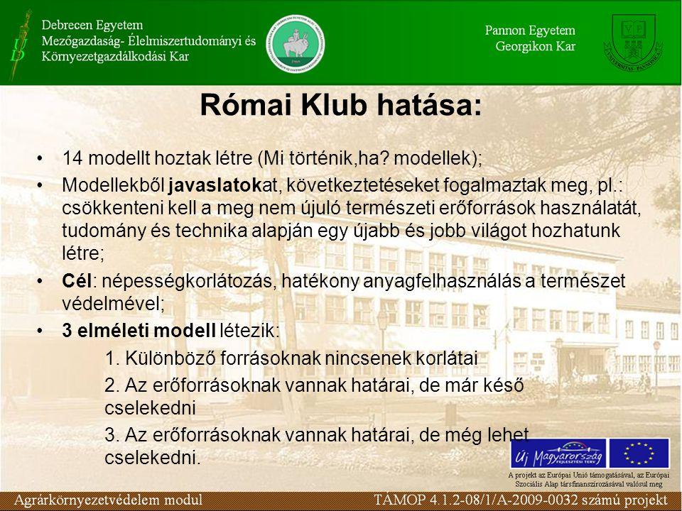 Római Klub hatása: 14 modellt hoztak létre (Mi történik,ha.