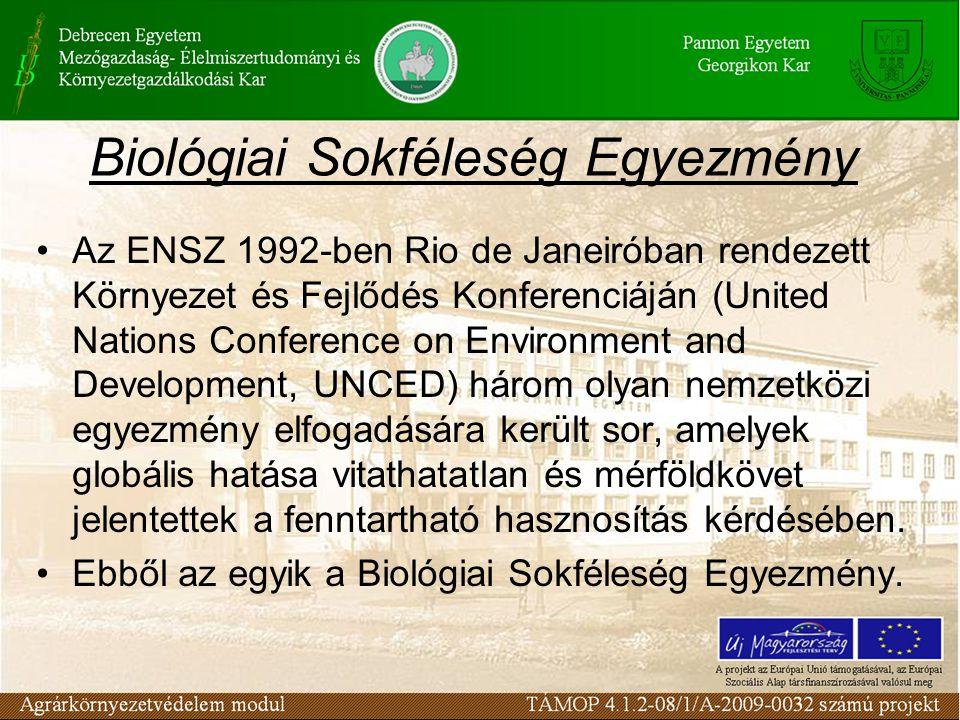 Biológiai Sokféleség Egyezmény Az ENSZ 1992-ben Rio de Janeiróban rendezett Környezet és Fejlődés Konferenciáján (United Nations Conference on Environ
