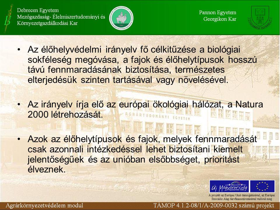 Az élőhelyvédelmi irányelv fő célkitűzése a biológiai sokféleség megóvása, a fajok és élőhelytípusok hosszú távú fennmaradásának biztosítása, természe