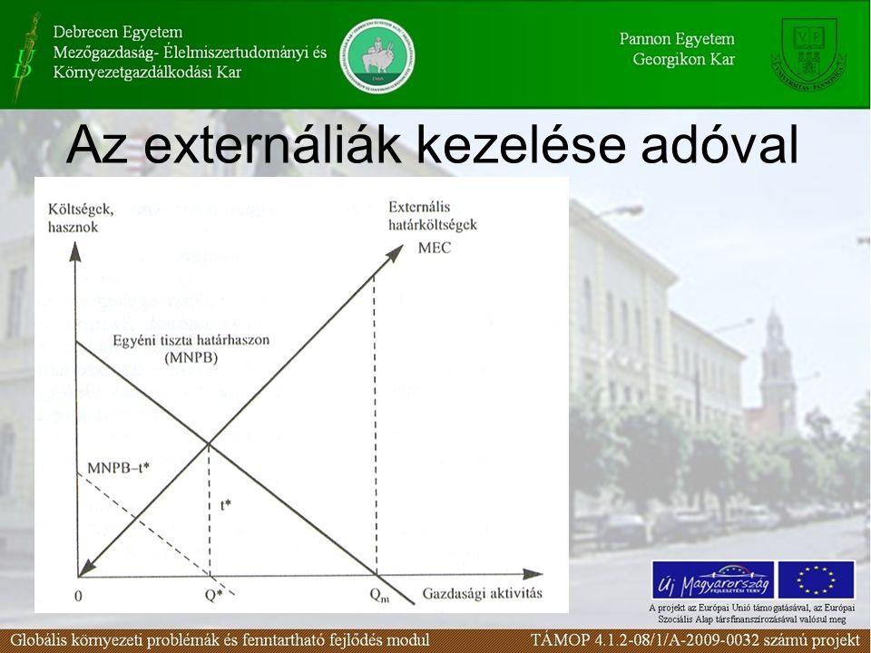 Az externáliák kezelése adóval