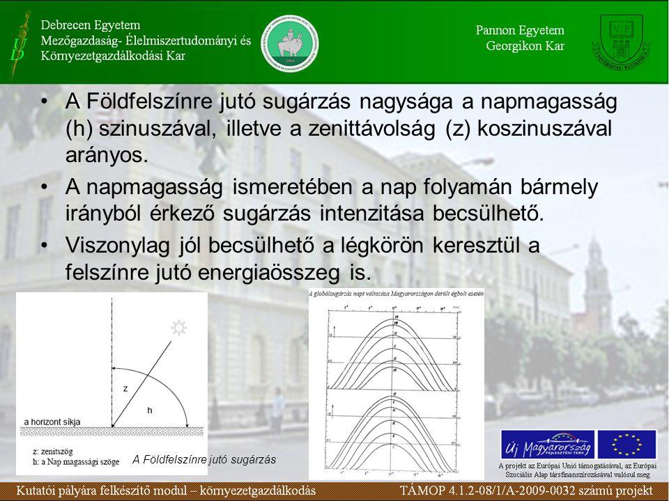 A gyakorlati munkában szükség lehet a sugárzó energia nagyságára.