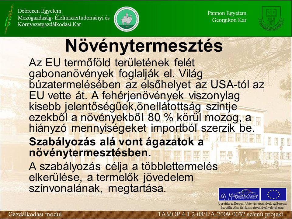 Növény-egészségügy szabályozása Az EU előírás szerint növény-egészségügyi vizsgálatra kötelezett növények termelőit, tárolóház, kereskedelmi központ tulajdonosait és az importőröket hivatalos nyilvántartásba veszik az illetékes növény-egészségügyi hatóságoknál.