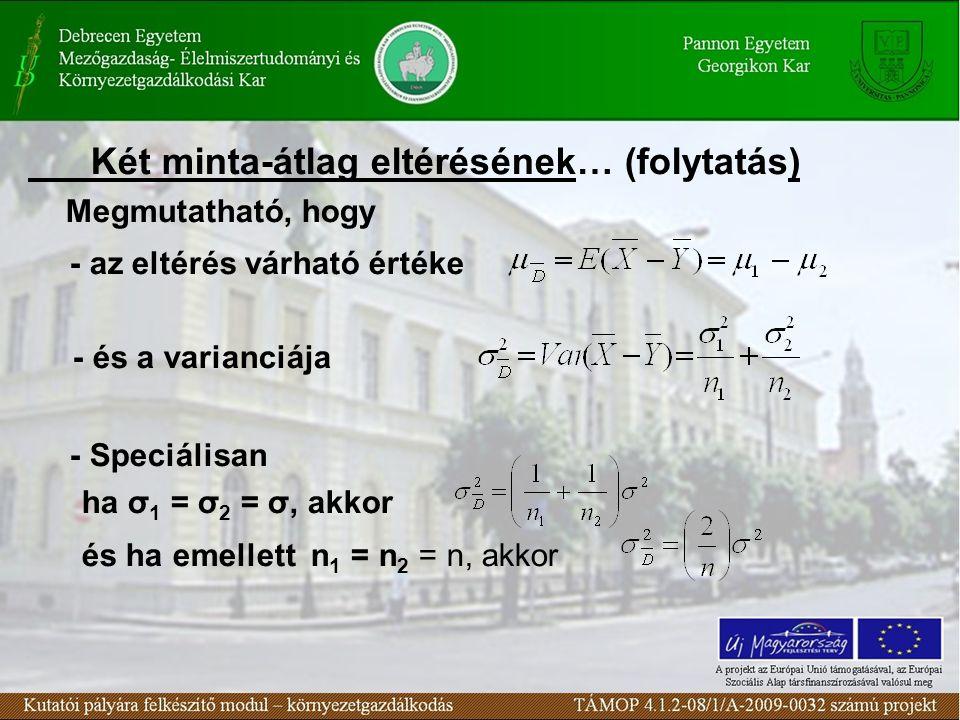 """ Fontosabb sokasági megoszlások Diszkrét változók eloszlás-típusai - Binomiális eloszlás - Hipergeometrikus eloszlás - Poisson eloszlás Folytonos változók eloszlás-típusai - Egyenletes eloszlás - Exponenciális eloszlás - Normális eloszlás - """"Normálisból származtatott eloszlások"""