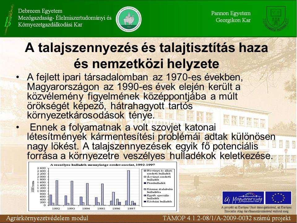 A fejlett ipari társadalomban az 1970-es években, Magyarországon az 1990-es évek elején került a közvélemény figyelmének középpontjába a múlt örökségét képező, hátrahagyott tartós környezetkárosodások ténye.