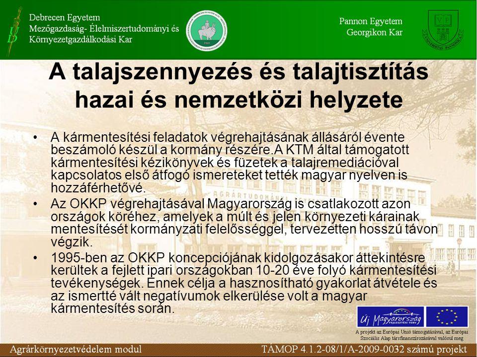 A kármentesítési feladatok végrehajtásának állásáról évente beszámoló készül a kormány részére.A KTM által támogatott kármentesítési kézikönyvek és füzetek a talajremediációval kapcsolatos első átfogó ismereteket tették magyar nyelven is hozzáférhetővé.