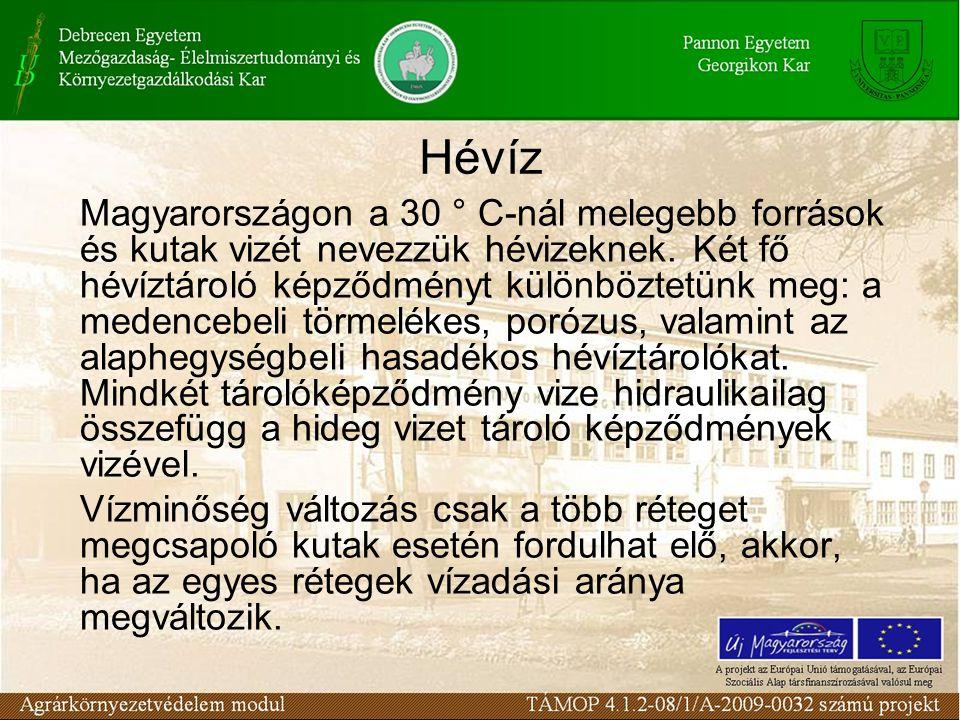 Hévíz Magyarországon a 30 ° C-nál melegebb források és kutak vizét nevezzük hévizeknek. Két fő hévíztároló képződményt különböztetünk meg: a medencebe