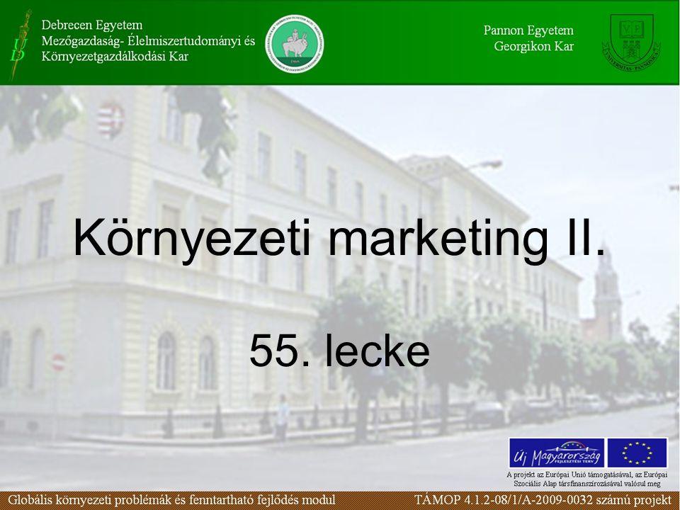 Környezeti marketing II. 55. lecke