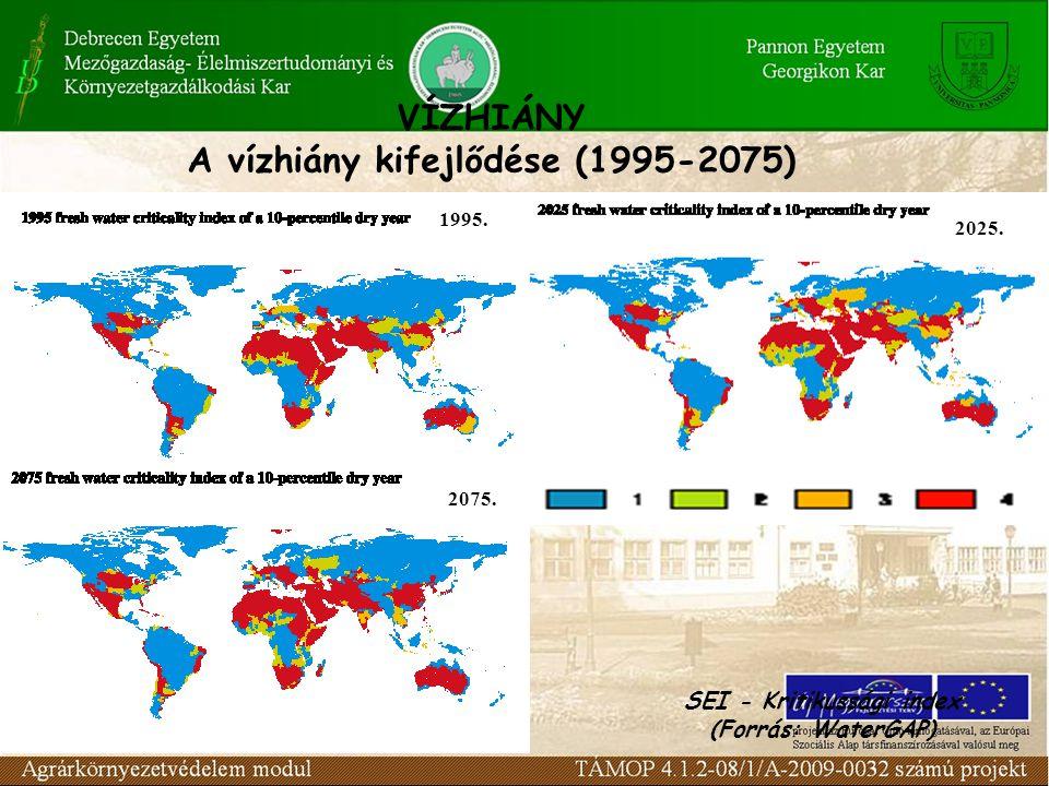 A vízgazdálkodás kihívásai a) Vízhiány b) A víz hozzáférhetőségi hiánya c) Vízminőség romlás d) A vízgazdálkodás tagoltsága, megosztott-sága e) A gazd