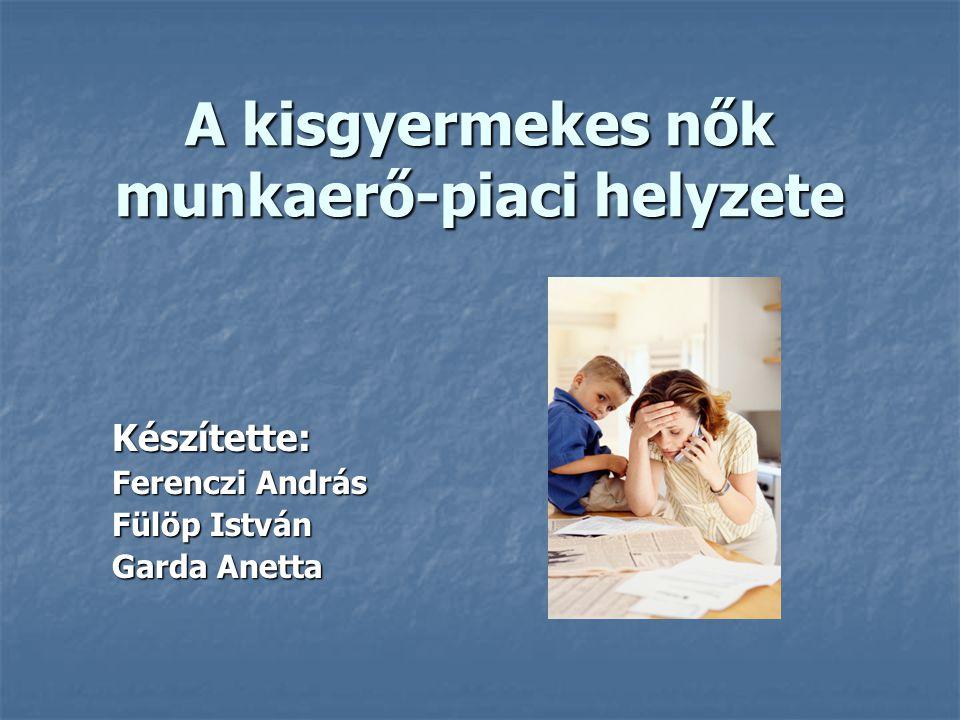 A kisgyermekes nők munkaerő-piaci helyzete Készítette: Ferenczi András Fülöp István Garda Anetta