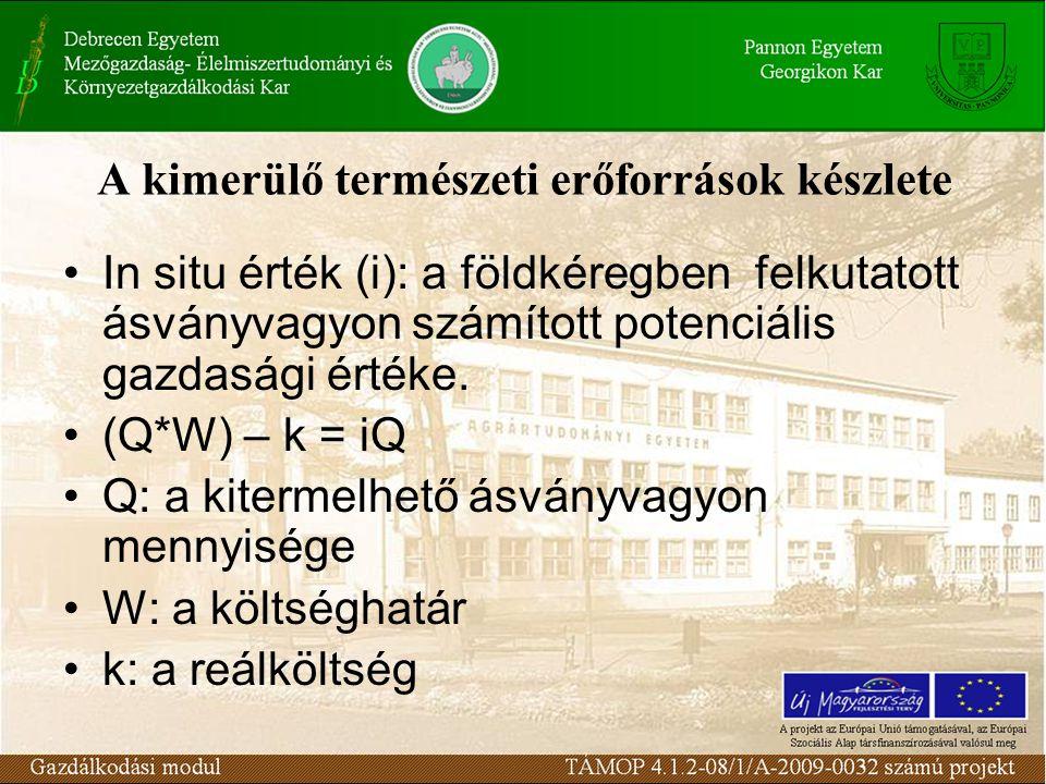 In situ természeti javak Ki fizesse meg a Dunakanyar, a Hortobágy, a Bükki-fennsík látványát??.