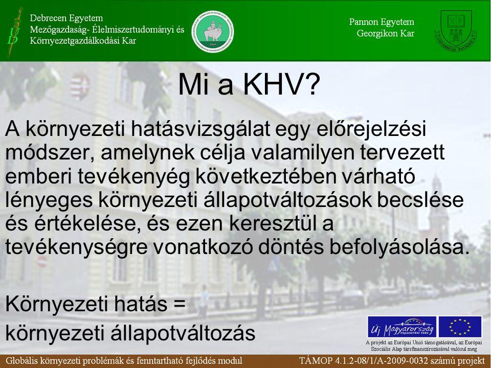 Mi a KHV.
