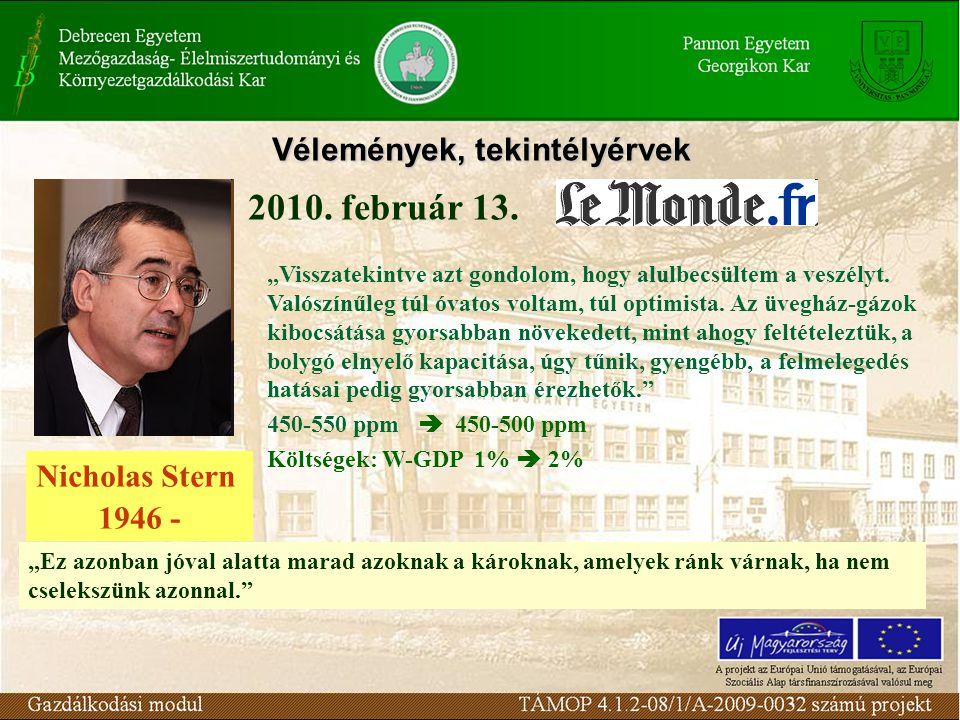 Vélemények, tekintélyérvek 2010. február 13.