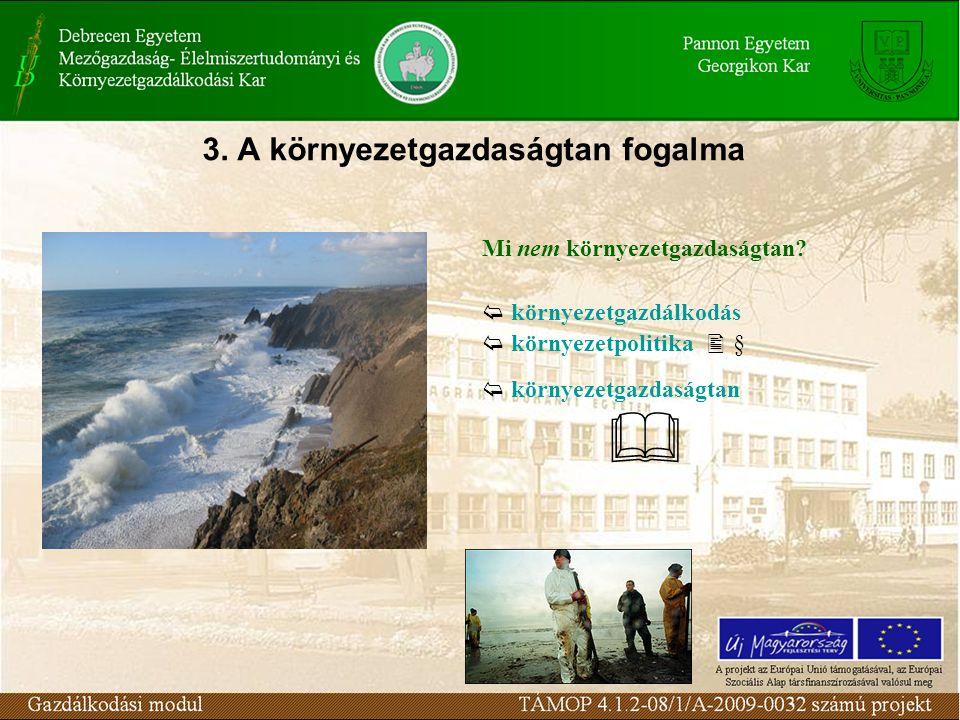 3. A környezetgazdaságtan fogalma Mi nem környezetgazdaságtan.