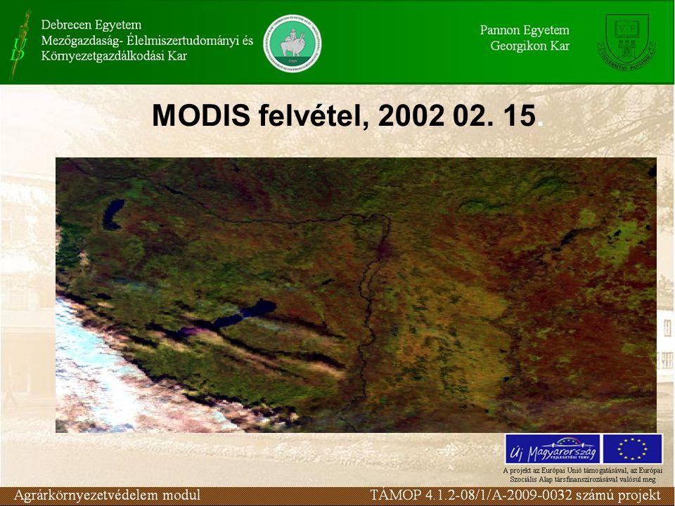 MODIS felvétel, 2002 02. 15.