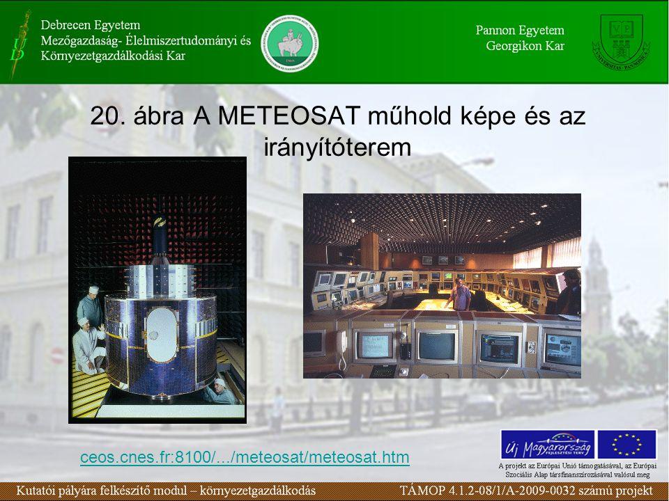 20. ábra A METEOSAT műhold képe és az irányítóterem ceos.cnes.fr:8100/.../meteosat/meteosat.htm