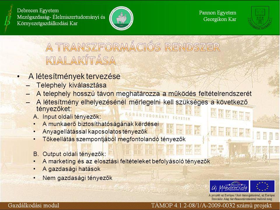 Az MRP működésének inputjai (folyt.) 3.