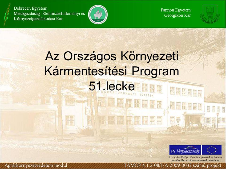 Az Országos Környezeti Kármentesítési Program 51.lecke