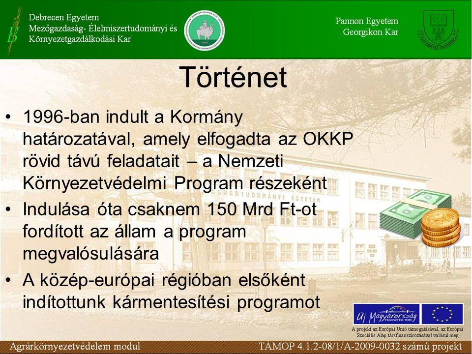 Történet 1996-ban indult a Kormány határozatával, amely elfogadta az OKKP rövid távú feladatait – a Nemzeti Környezetvédelmi Program részeként Indulása óta csaknem 150 Mrd Ft-ot fordított az állam a program megvalósulására A közép-európai régióban elsőként indítottunk kármentesítési programot