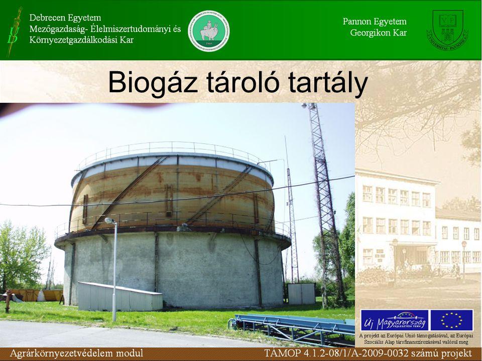 Biogáz tároló tartály