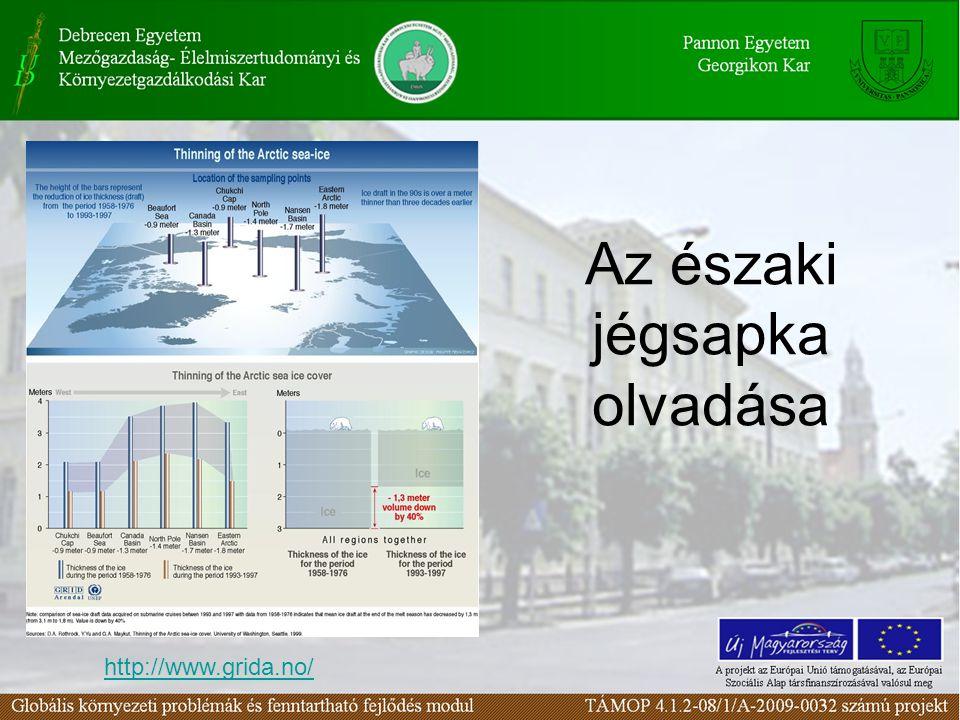 http://www.grida.no/ Az északi jégsapka olvadása