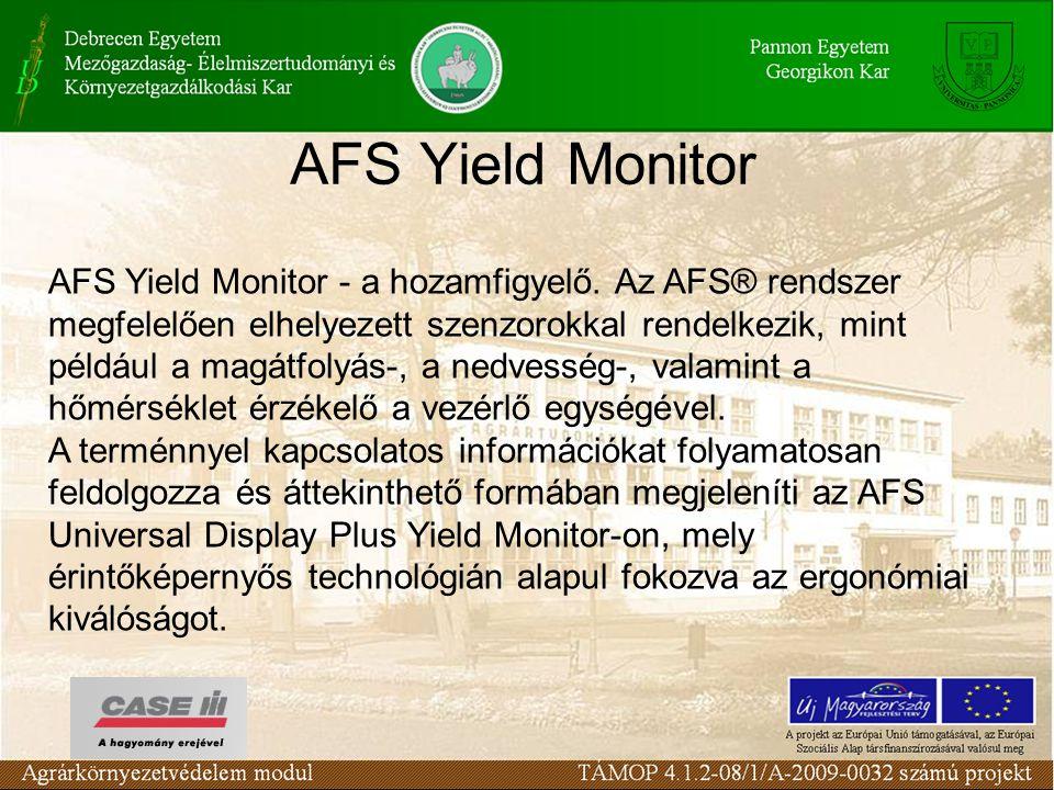 AFS Yield Monitor AFS Yield Monitor - a hozamfigyelő.