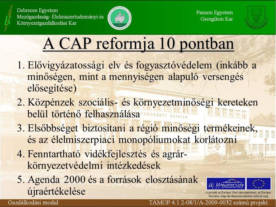 A CAP reformja 10 pontban 1.