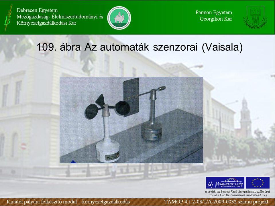 109. ábra Az automaták szenzorai (Vaisala)